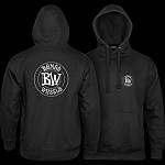 BONES WHEELS Branded Sweatshirt Hooded Black