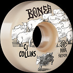 BONES WHEELS PRO STF Skateboard Wheels Collins Black Sheep 52mm V3 Slim 99A 4pk