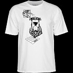 Bones Wheels Time Beasts Hourglass T-shirt White