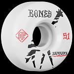 BONES WHEELS Pro STF Zaprazny Giraffe 51mm V2 Skateboard Wheel Locks 4pk White