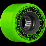 BONES WHEELS ATF Rough Rider Tank Skateboard Wheels 56mm 80a 4pk Green