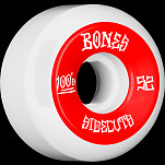 BONES WHEELS 100 #2 Skateboard Wheel 52mm 4pk White V5 Sidecut