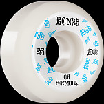 BONES WHEELS OG Formula Skateboard Wheels 100 #3 53mm V5 Sidecut 4pk White