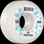 BONES WHEELS OG Formula Skateboard Wheels 100 #3 53mm V5 Sidecut 4pk White