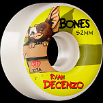 BONES WHEELS PRO STF Skateboard Wheels Decenzo Gizzmo 52mm V2 Locks 103A 4pk