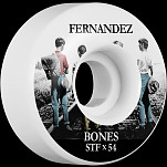 BONES WHEELS STF Pro Fernandez Con Amigos Skateboard Wheels V1 Standard 54mm 103A 4pk