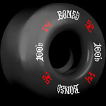 BONES WHEELS 100's #12 OG Formula 52x34 V4 Skateboard Wheels 100A 4pk Black