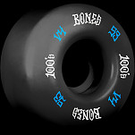 BONES WHEELS 100's #12 OG Formula 53x34 V4 Skateboard Wheel 100A 4pk Black