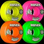 BONES WHEELS 100 Wheels V1 Standard 100a 4pk Asstd