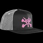 BONES WHEELS Cap Puff Black/Pink