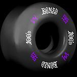 BONES WHEELS 100 Skateboard Wheels 100A 4pk Black