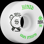 BONES WHEELS STF Easy Money Skateboard Wheels Easy Streets Standards 54mm 4pk White