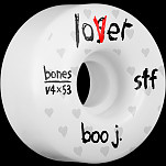 BONES WHEELS STF Pro Boo Johnson Lover Skateboard Wheels V4 53mm 34mm 4pk