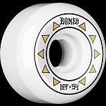 BONES WHEELS SPF Arrows Skateboard Wheels 81B Sidecuts 54mm 4pk White