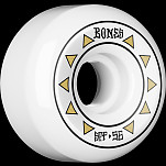 BONES WHEELS SPF Arrows Skateboard Wheels 81B 56mm 4pk White P5 Sidecut