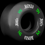 BONES WHEELS 100's #12 OG Formula 54x34 V4 Skateboard Wheels 100A 4pk Black