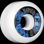 BONES WHEELS STF Time Beasts Skateboard Wheels 53mm 99a  Easy Streets V5 Sidecuts White