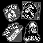 BONES WHEELS Terror Nacht Sticker Singles - all 4