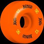 BONES WHEELS 100 Skateboard Wheels V1 Standard 52mm 100A 4pk Orange