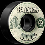 BONES WHEELS 100's OG Formula 55x34 V4 Skateboard Wheels 100a 4pk Black