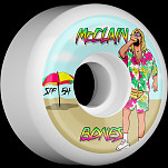 BONES WHEELS SPF Pro McClain Beach Bum Skateboard Wheels Sidecuts 54mm 84B 4pk White