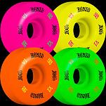 BONES WHEELS 100 Skateboard Wheels 53mm 100A 4pk Multi