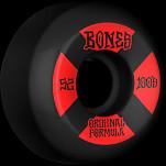 BONES WHEELS OG Formula Skateboard Wheels 100 #4 52mm V5 Sidecut 4pk Black