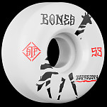 BONES WHEELS Pro STF Zaprazny Giraffe 53mm V2 Skateboard Wheel Locks 4pk White