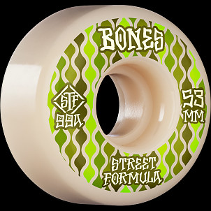 BONES WHEELS STF Skateboard Wheels Retros 53mm V2 Locks 99A 4pk