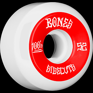 BONES WHEELS 100 #2 V5 Skateboard Wheel 52mm 4pk White