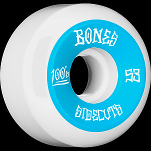 BONES WHEELS 100 #2 V5 Skateboard Wheel 53mm 4pk White V5 Sidecut