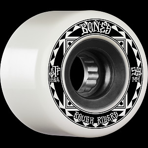BONES WHEELS ATF Rough Rider Skateboard Wheels Runners 59mm 80a 4pk White