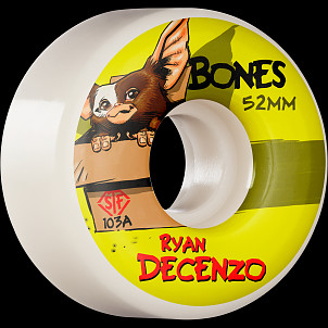 BONES WHEELS PRO STF Skateboard Wheels Decenzo Gizzmo 52mm V2 Locks 103A 4pk