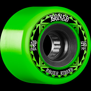 BONES WHEELS ATF Rough Rider Skateboard Wheels Runners 56mm 80a 4pk Green