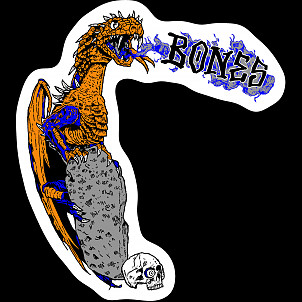 BONES WHEELS Cody Lockwood  Dragon Sticker 20 pk