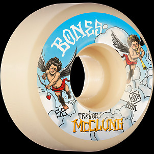 BONES WHEELS PRO STF Skateboard Wheels Trevor McClung McCherubs 52mm V1 Standard 99A 4pk