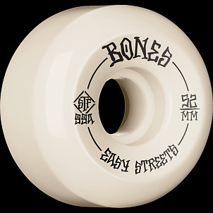 BONES WHEELS STF Skateboard Wheels 52mm 99a Easy Streets V5 Sidecuts 4pk Natural