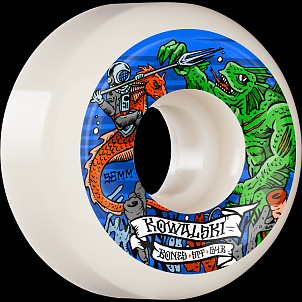 BONES WHEELS PRO SPF Skateboard Wheels Kowalski Kraken 56mm P5 Sidecut 84B 4pk