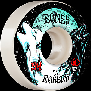 BONES WHEELS PRO STF Skateboard Wheels Rogers Spirit Howl 54mm V3 Slims 103A 4pk