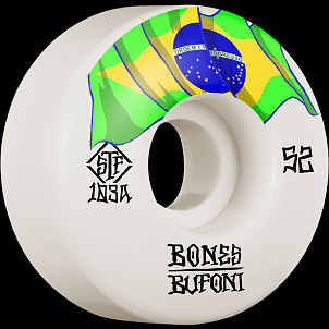 BONES WHEELS PRO STF Skateboard Wheels Bufoni Origin 52mm V1 Standard 103A 4pk