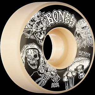 BONES WHEELS STF Night Watch Skateboard Wheels 52mm 99a Easy Streets V1 Standard 4pk White