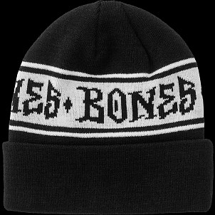 BONES WHEELS Beanie Home School'd Black