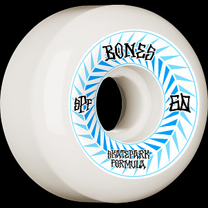 BONES WHEELS SPF Skateboard Wheels Spines 60mm P5 Sidecut 84B 4pk White