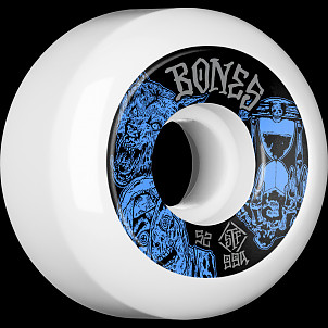 BONES WHEELS STF Time Beasts Skateboard Wheels 52mm 99A Easy Streets Sidecut 4pk