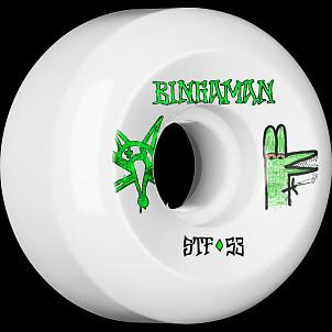 BONES STF Pro Bingaman Burney 53x31 V5 Skateboard Wheel 83B 4pk