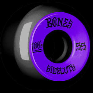 BONES WHEELS 100 #2 V5 Skateboard Wheel 55mm 4pk Black