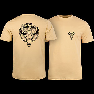 BONES WHEELS Desert Ditch T-shirt Tan