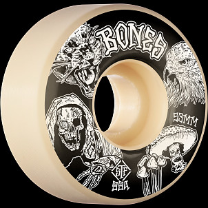 BONES WHEELS STF Night Watch Skateboard Wheels 53mm 99a Easy Streets V1 Standard 4pk White