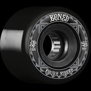 BONES WHEELS ATF Rough Rider Skateboard Wheels Runners 56mm 80a 4pk Black