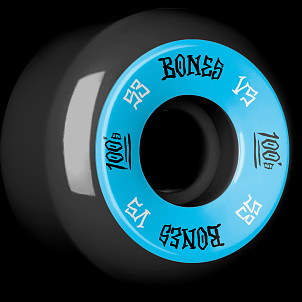 BONES WHEELS 100's 53x31 V5 Skateboard Wheels 100A Black 4pk